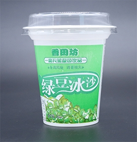 绿豆冰沙杯
